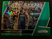 KEMBA WALKER 2017-18 Panini Prizm Get Hyped Green SP Parallel Hornets Celtics
