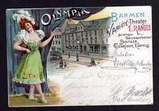 109752 AK Barmen 1900 Litho Olympia Variete Theater Gebrüder Knevels