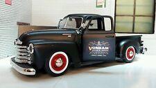 G LGB 1:24 Scale 1950 3100 Black Chevrolet Pickup Truck Diecast Rat Rod Model