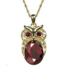 Daniel Steiger Owl Collection 18k Gold Plated Sterling Silver Pendant With Chain