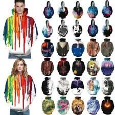 Unisex Couples Halloween Hoodies Sweatshirt 3D Graphic Print Tunic Jumper Tops
