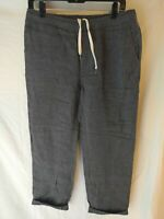 Our Legacy Relaxed Trousers Gray Charcoal Linen Size 48 Medium SS15