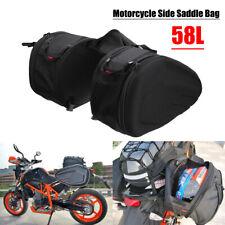 2Pcs 58L Multi-use Expandable Motorcycle Side Saddle Bag Helmet Waterproof Cover