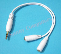 3.5mm Audio AUX Y Splitter Cable Male to 2 Female Adapter Cord for Mobile Phones