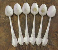 Oneida Park Lane Set 6 Teaspoons Wm A Rogers Vintage Silverplate Flatware Lot J