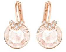 Swarovski 5299318  Pierced Earrings Bella V  Pink RG Tone  Length1.8cm RRP $89