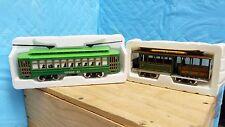 2 CLASSIC STREETCARS #1043834 - DESIRE TROLLY & SAN FRANCISCO CABLE CAR NIB -5D