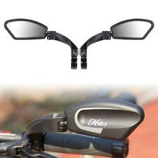 Adjustable Hafny Handlebar Safe Rearview Side Mirror Bike Stainless Steel Black