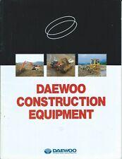 Equipment Brochure Daewoo Construction Product Line Overview E6312