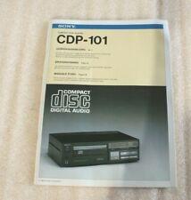Sony CDP 101 original notice NL de IT