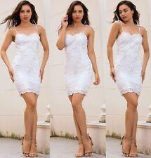 Abito Aperto ricamato Aderente Nudo Pailette Cerimonia Party Sequin Dress L