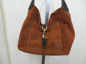 Lovely Dooney & Bourke Analisa Lock Suede Hand Bag