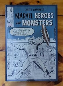 Jack Kirby Marvel Heroes and Monsters Artist's Edition IDW HC ~ Sealed/No Box
