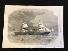 1862 Newspaper Print, New Cunard Steam-Ship Scotia, Napier & Son Glasgow- A3BK5