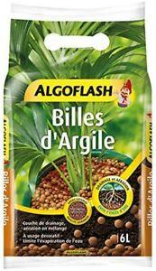 Billes Argile ALGOFLASH - Limite l'évaporation d'eau -Plantes Pot - 6 L-ATBILL6N