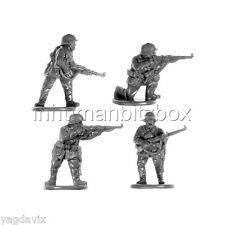 GEI9 RIFLEMAN x4 + BASE M GERMAN EARLY FLAMES OF WAR BITZ PSC 15mm