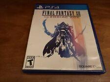 Final Fantasy Xii: The Zodiac Age (Sony PlayStation 4, 2017) Ps4