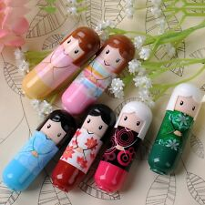 Kawaii Doll Shape Lip Balm Protector Flavors Lipstick Natural Moisturized Cream