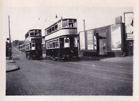 Original real photograph Birmingham 732 & 747 tram tramcar circa 1940 vintage