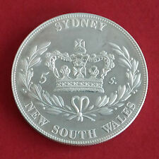 Australia Sydney NSW 1840 Plata Prueba Patrón Corona-acuñación 18