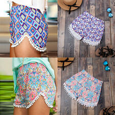 Women's Casual Shorts Floral Boho Gym Beach Board Swimming Summer Hot Pants Silm