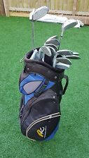full set of mens golf clubs irons 3-SW driver 7 wood putter powercaddy cart bag