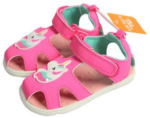 Carter's Every Step Baby Girls Size 6 Bai Baby Fisherman Sandals Unicorn Fuchsia