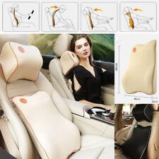 Car SUVs Headrest Neck Lumbar Back Waist Support Kit Cushion Memory Foam Pillow