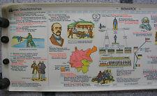 Wandbild Geschichtsfries Fürst Kanzler Bismarck 139x50c vintage wall chart 1965