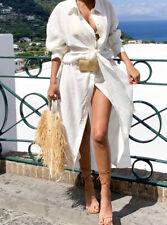 ZARA OYSTER WHITE SHIRT DRESS WITH KNOT.  REF: 7385/328 SIZE XXL