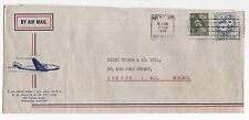 1959 AUSTRALIA Air Mail Cover MELBOURNE To LONDON SG262 SG323 Commercial