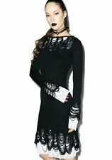 Killstar Lestat Knit Dress KneeLength NuGoth, Funeral, Witchcraft, Wicca, Occult