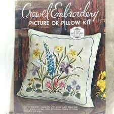 Vtg Elsa Williams NeedleArt Collection Stamped Linen Crewel Embroidery Kit New