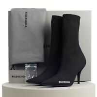 BALENCIAGA 950$ Knife Sock Boots In Black With Logo Print