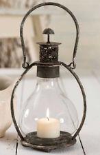 NEW RUSTIC FARMHOUSE Candle Lantern Rustic Metal & Glass Candle Light Lantern