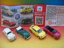 NEW @@@ VOLKSWAGEN - CARS  KINDER  SURPRISE  EGG  ITALY