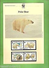 #QQ.  WWF  INFORMATION SHEETS, STAMPS & FDCs - POLAR BEAR