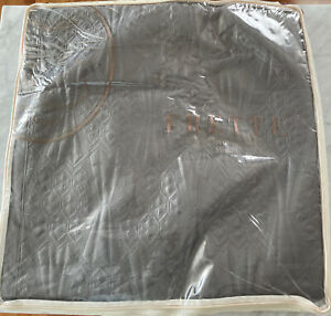 New. Frette Embroidered Quilt. King. Gray.