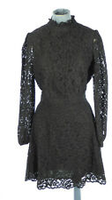 New listing & Other Stories Black Lace Fit & Flare Victorian Style Dress Long Sleeve UK 10