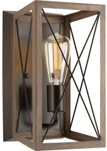 Wall Sconce 6.88 in. 1-Light Adjustable Glass Shade in Antique Bronze Finish