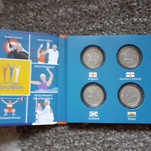 2002 £2 COMMONWEALTH GAMES  ALBUM with a full set of all four coins included