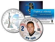 Derek Jeter colorisé New York quart U. S. pièce de monnaie avec RARE VERSO
