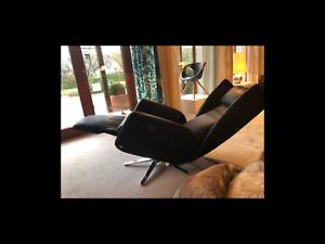 Bielefelder Werkstätten Sessel DAVE-Anilinleder-mit 3 Motoren-um 360 drehbar