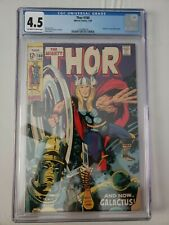 The Mighty Thor #160 1969 Marvel CGC 4.5 OW-W Comics  Galactus Cover
