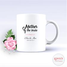 PERSONALISED MUG - MOTHER OF THE BRIDE COFFEE TEA CUP WEDDING DATE GIFT MUM 3