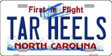 TAR HEELS North Carolina State Background Metal Novelty License Plate