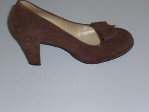 Apostrophe Brown Suede Shoes Pumps platform 3.5'' sz 7.5 M