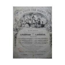 BORDÈSE Luigi Les Débutantes Chant Piano ca1840 partition sheet music score