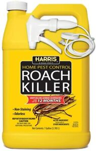 HARRIS Roach Killer, Liquid Spray with Odorless & Non-Staining 12-Month Extend