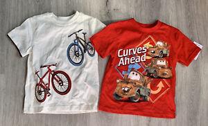 Lot of Two Boys Shirts Disney Cars Gymboree Bike Explorer 4 4t NWT